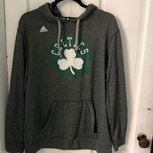 2ee46235a Official Boston Celtics Adidas grey hood pullover